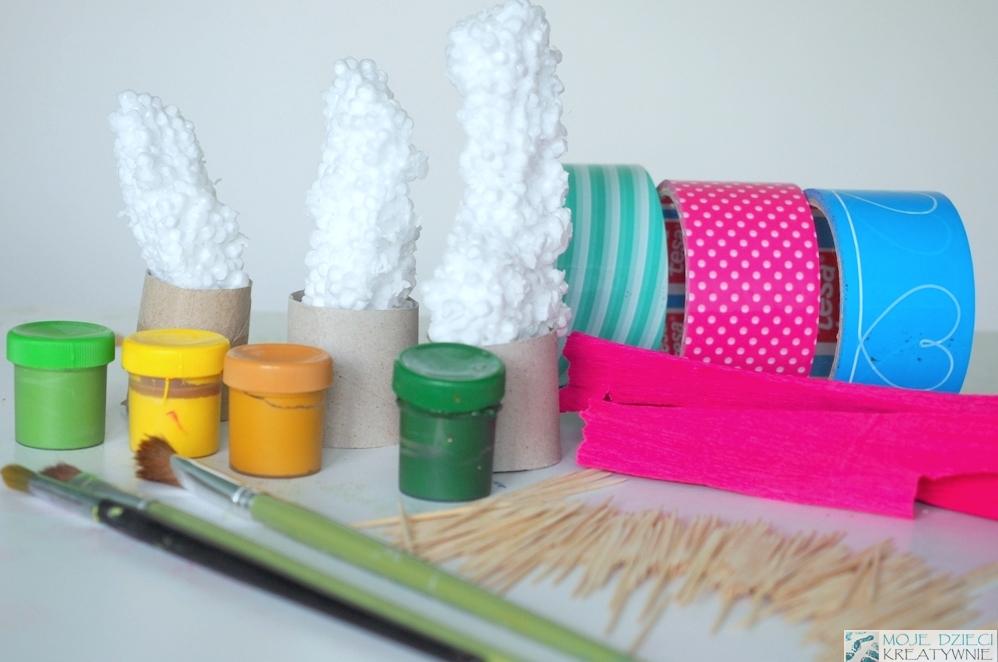 kaktus ze styropianu praca plastyczna diy sztuczne kaktusy 1