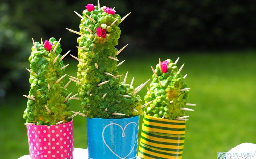 kaktus ze styropianu praca plastyczna diy sztuczne kaktusy 12 1000x620